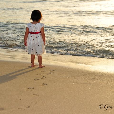 Family at Pompano Beach